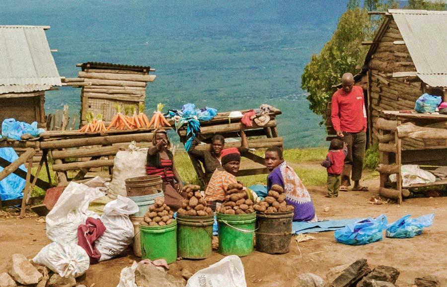 Tanzanian village market